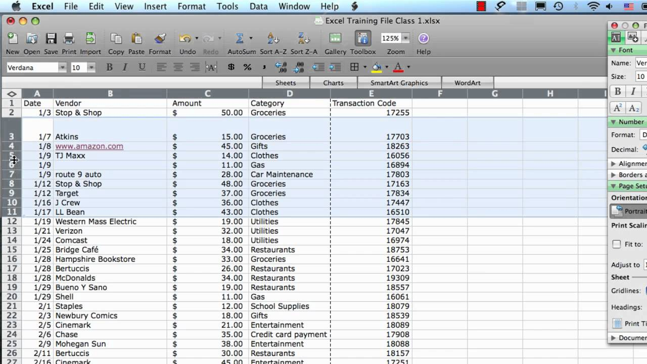 fit to page excel 2008 mac
