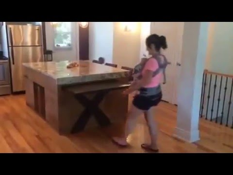 Ilot de cuisine table coulissante action de sortie youtube - Table cuisine escamotable ...