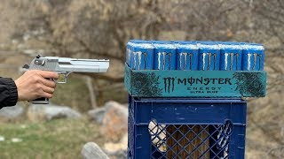 50 Cal Desert Eagle VS Monster Energy Drink