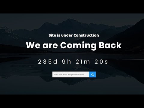 Coming Soon Page Design using html css and javascript