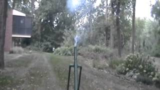 M224 Mortar Replica Shooting Roman Candles
