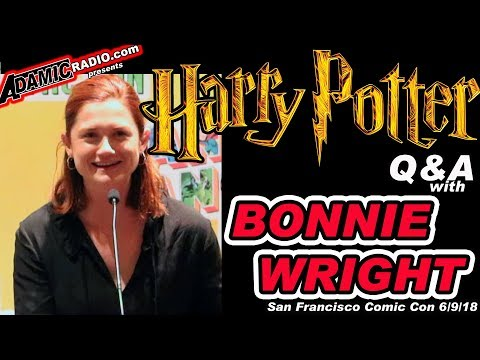 Harry Potter Bonnie Wright  Q&A from San Francisco Comic Con 6918