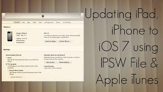 Updating iPad, iPhone to iOS 7 using IPSW File & Apple iTunes - How To Tutorial