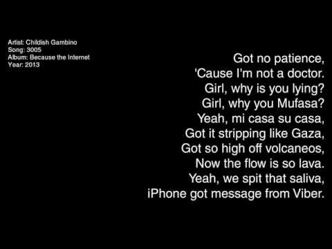 childish gambino lyrics - 480×360