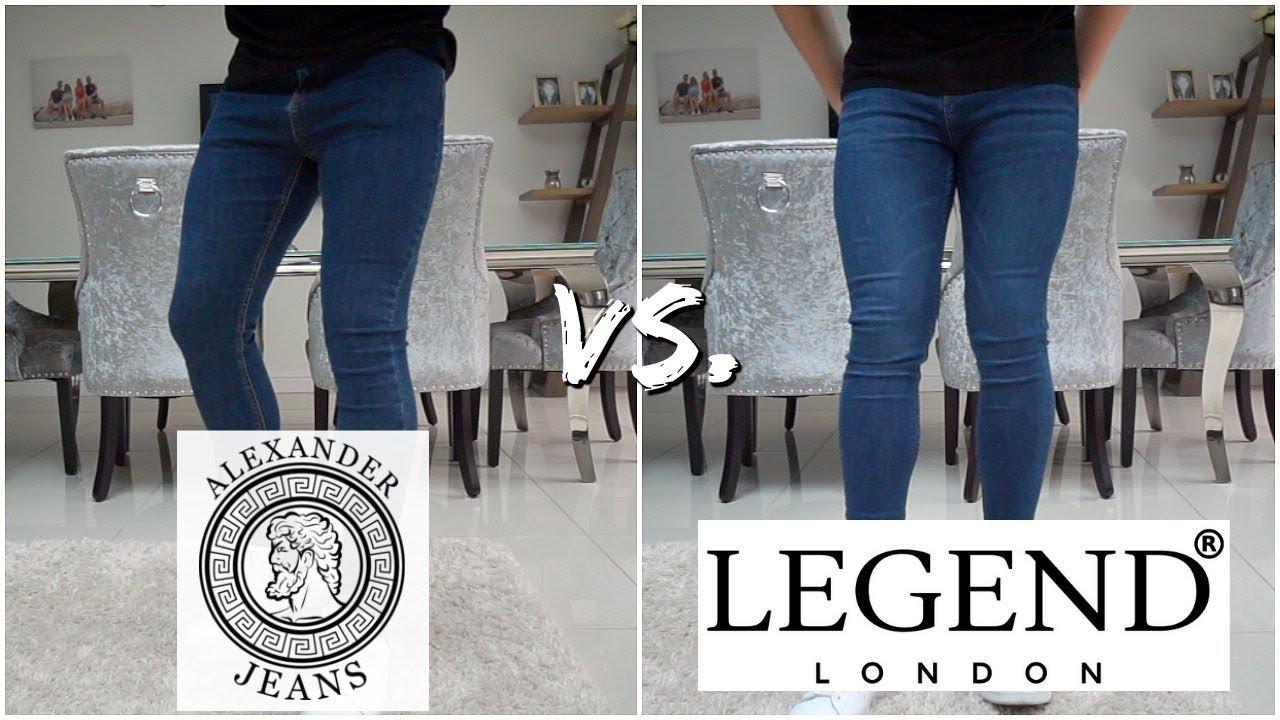 Best Fitting Super Skinny JEANS For Men (Alexander Jeans vs. Legend London)