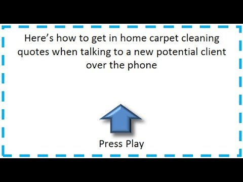 How To Get In Home Quotes for Carpet Cleaning - 3