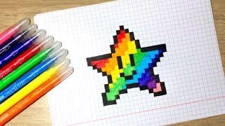 Как нарисовать звезду по клеточкам ⭐(Как легко и быстро нарисовать по клеткам звезду из Супер Марио! Подписаться https://goo.gl/EtLqrx Всем спасибо за..., 2016-11-29T23:34:03.000Z)