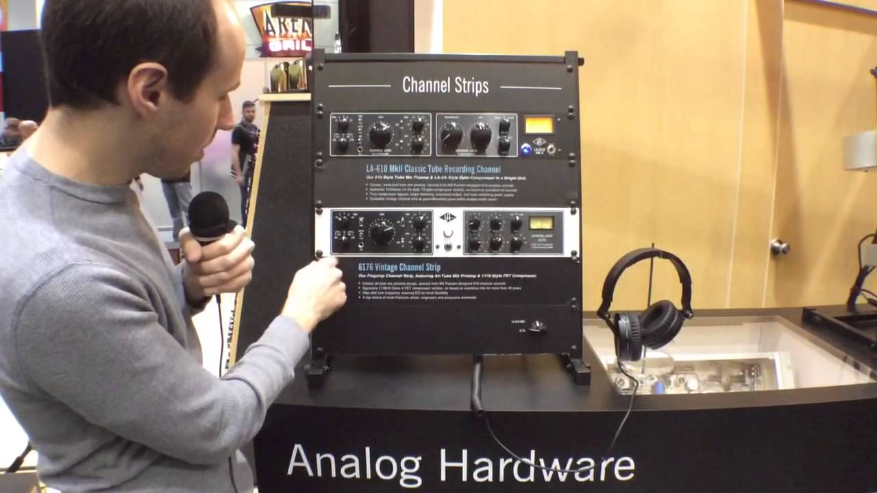 2014 Winter NAMM Show - Universal Audio 6176 Vintage Channel Strip - YouTube