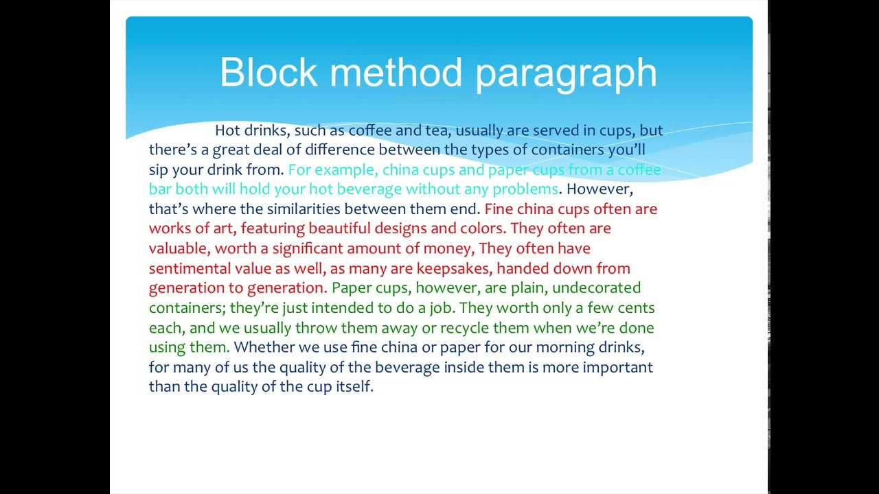block paragraphs