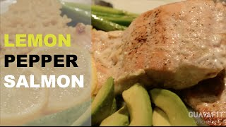Zesty Lemon Pepper Salmon // Guavafit Kitchen