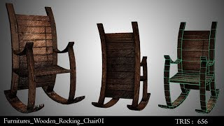 Wooden Rocking Chair in Autodesk Maya 2018 | Part-1 : Modeling