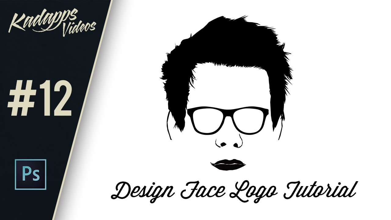 how to make your face as a logo in photoshop vector cartoon tutorial