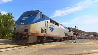 Amtrak Coast Starlight & Surfliners in Moorpark / Simi Valley, CA March 29th, 2014