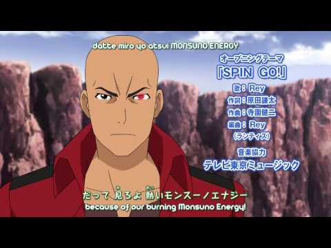 "Juusen Battle Monsuno - Opening 2 - ""SPIN GO!"" by Rey (Subtitled)"