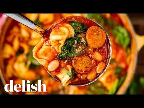Tuscan Tortellini Soup | Delish