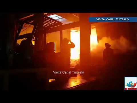 Incendio consume fábrica en la colonia Granjas San Antonio en Iztapalapa Video