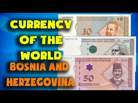 Currency Of The World - Bosnia And Herzegovina Convertible Mark. Bosnian Banknotes And Bosnian Coins