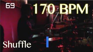 170 BPM Shuffle Beat - Drum Track