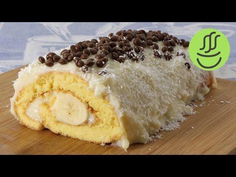 Rulo Pasta Tarifi - Muzlu Rulo Pasta Nasıl Yapılır? - Kolay Muzlu Yaş Pasta Tarifi - Muzlu Pasta
