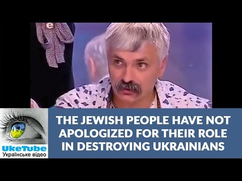 Ukrainians want to apologize to Jews for the Holocaust. But it