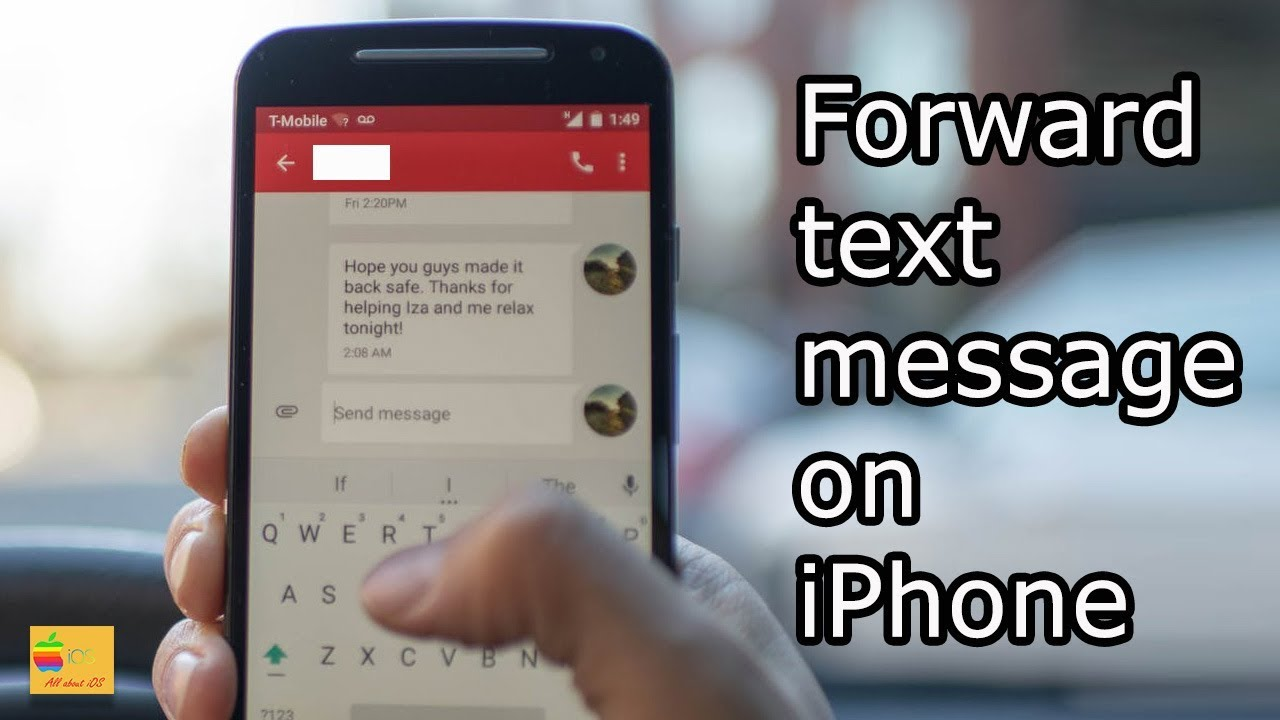 How do you forward a text message on iPhone - YouTube
