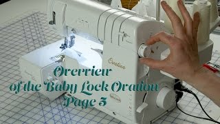 J Stern Designs l  Baby Lock Ovation Serger Manual:  Overview Page 5