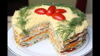 Торт Закусочный из Кабачков Домашний Проверенный рецепт