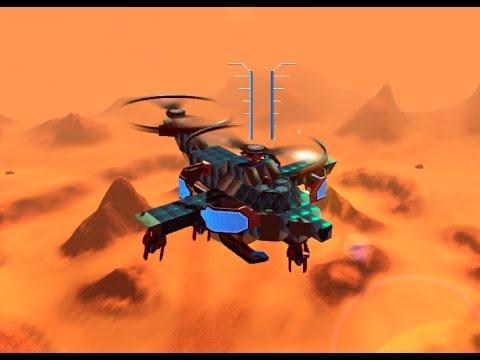 Штурмовой вертолёт в Robocraft ( Робокрафт )