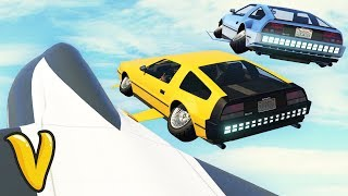 BACK TO THE FUTURE DELUXO CAR HACKING STUNT! GTA 5: Online Doomsday Heist!