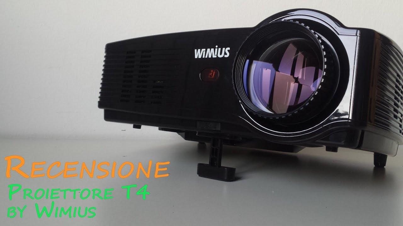 Recensione Proiettore Wimius T4 3200 Lumen Youtube