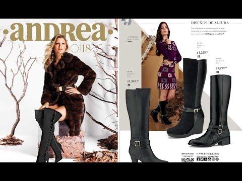Asalto Enfriarse Pensamiento  Nuevos Catalogos Zapatos Andrea otoño invierno 2018 - YouTube