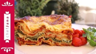 Cheesy lasagna using the easiest 2 ingredients high protein vegan meat!