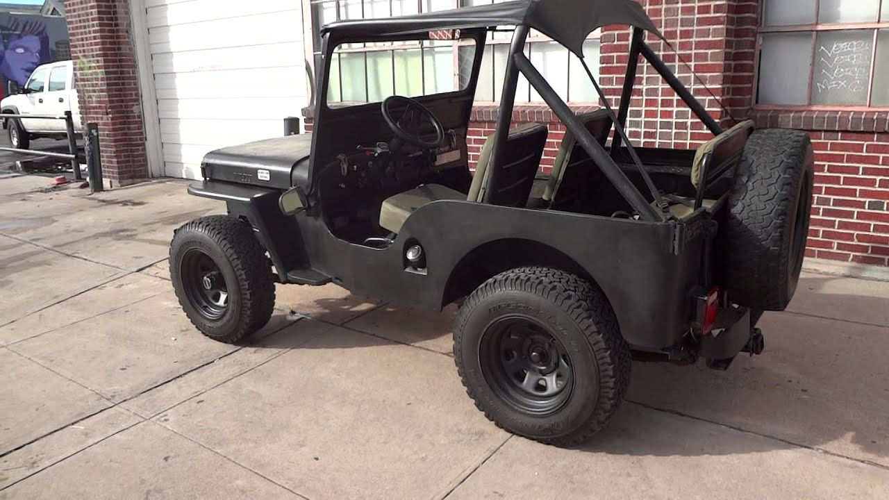 1951 Willys Jeep Navy Seals Black Ops Edition For Sale