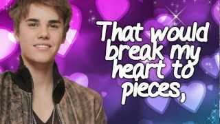 Die In Your Arms - Justin Bieber (Lyric Video) with lyrics on screen