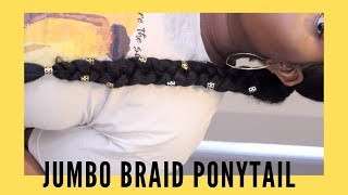 Long Braid with Braiding Hair | $2 Hairstyle | De La Fro