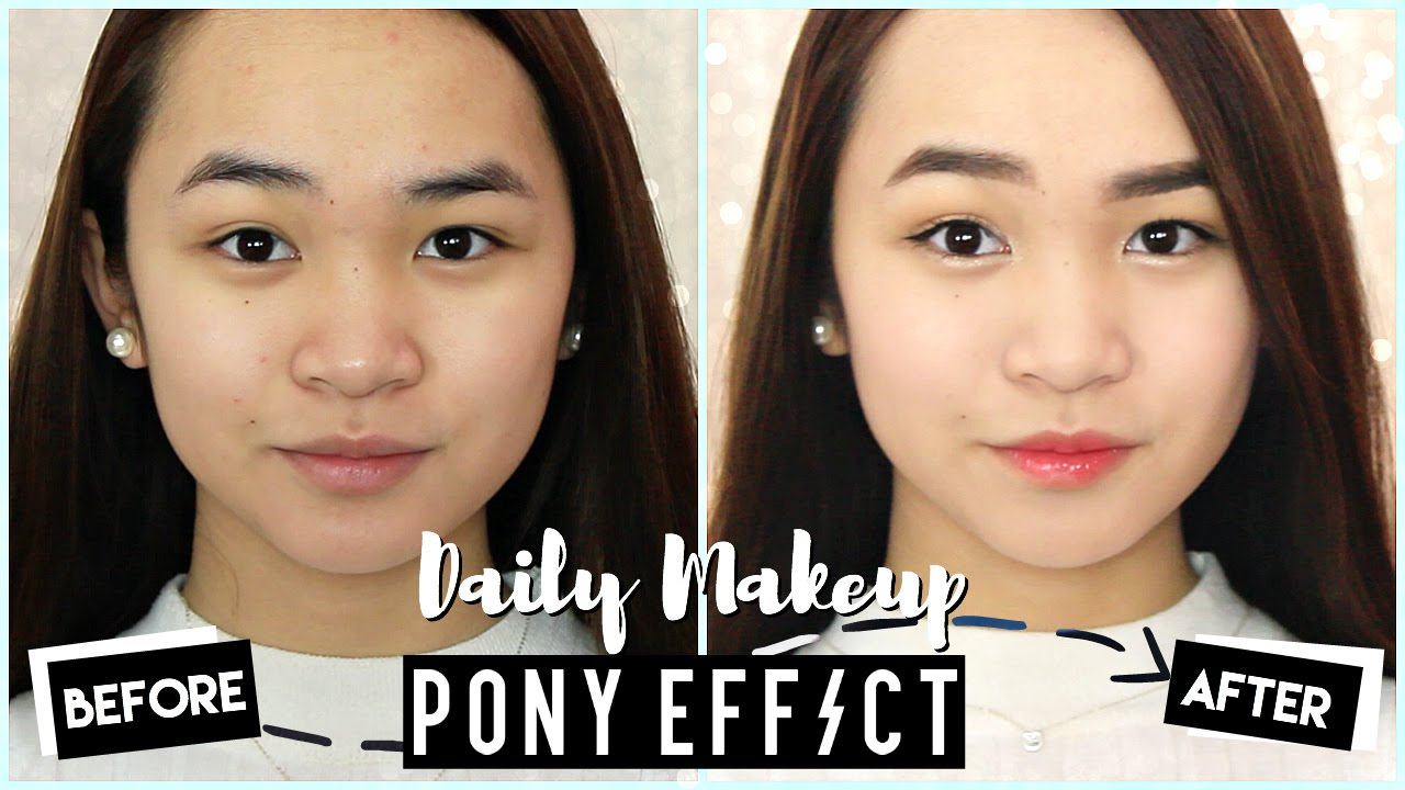 Daily School Work Makeup Look Ft Pony Effect Essentials Youtube