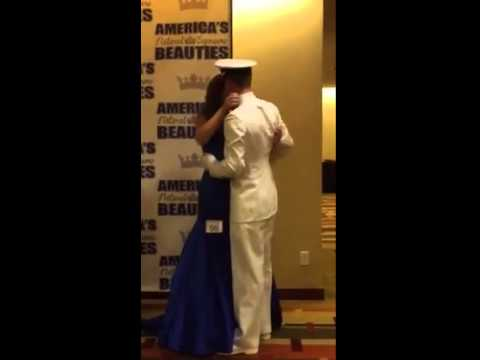 Naval Officer Surprises his Sister at National Pageant