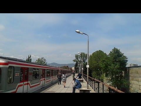 Above ground metro stations in Tbilisi. Наземные станции Тбилисского метро - Гоциридзе и Дидубе