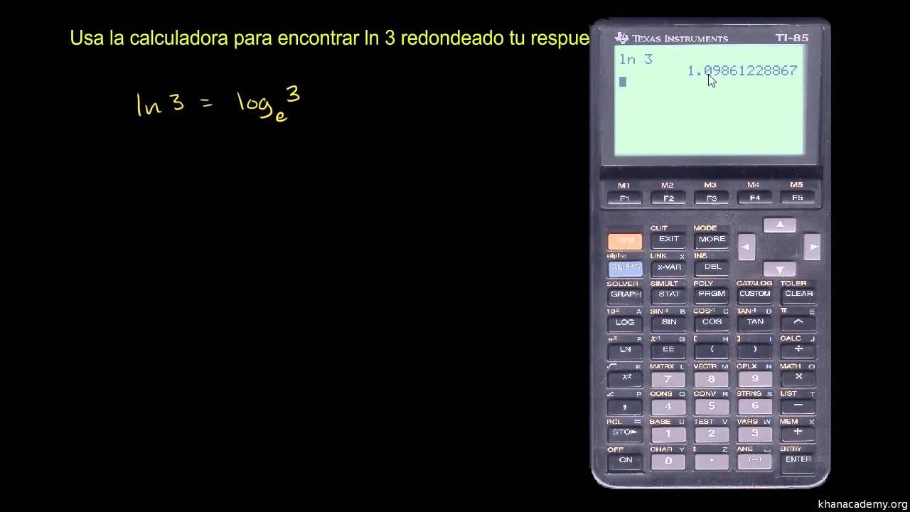La calculadora para sacar el logaritmo natural - YouTube
