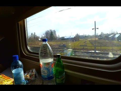 Везём кошку в деревню на поезде и автобусе. Прогулка по Череповцу, разговор с таксистами.