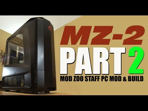 """MZ-2"" GENESIS Origin PC Mod Zoo Case Mod, PART 2"