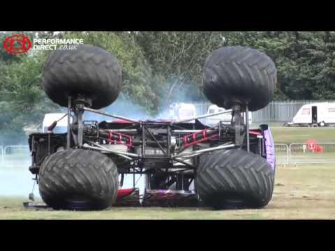 Monster Truck Crash Slingshot Monster Truck Crashes At Modified