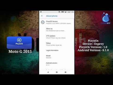 PixysOs 1 0 Android O For Moto G3