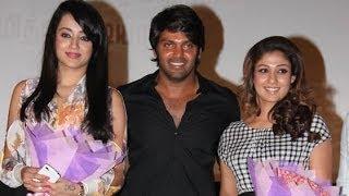Nayantara and Trisha at Amara Kaaviyam Audio Launch