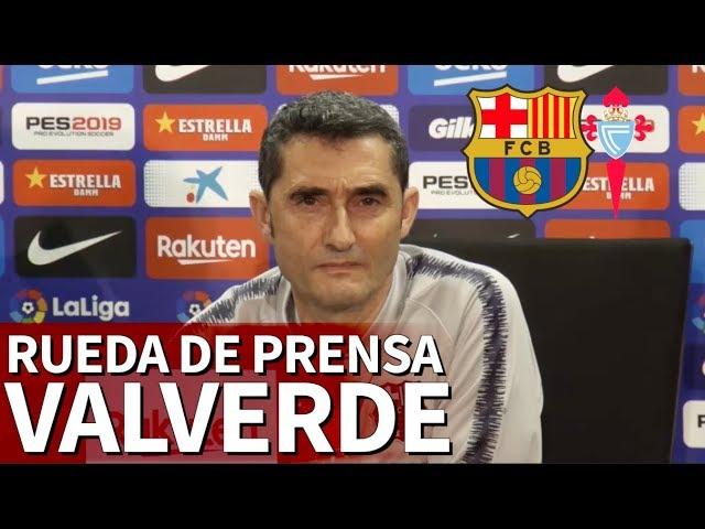 Barcelona Celta | Rueda de prensa previa de Valverde | Diario AS