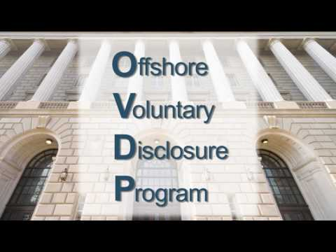 IRS Offshore Voluntary Disclosure Program - McMahon & Associates PC