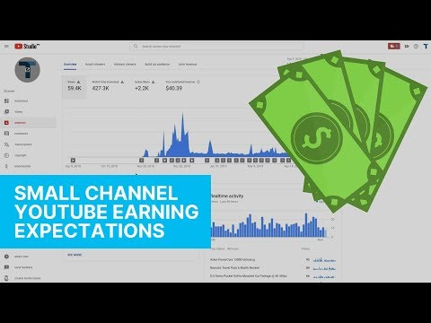 SMALL YOUTUBE CHANNEL EARNINGS!
