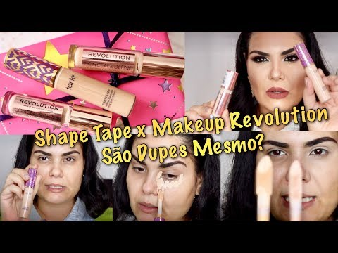 Corretivo Shape Tape X Makeup Revolution: São Dupes?