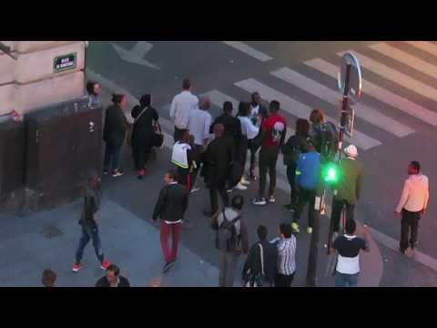 PARIS Gar Du Nord Police activity May 2017