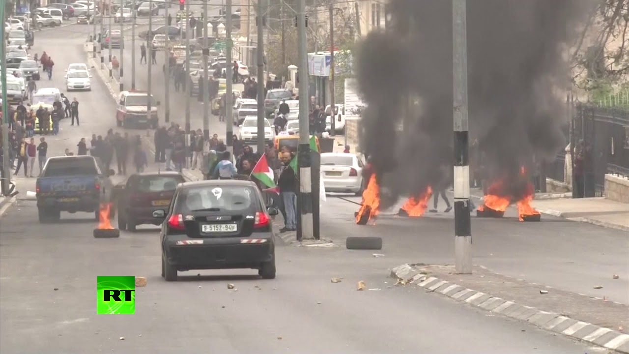 Day of Rage: Palestinians clash with IDF in anti-Trump demo